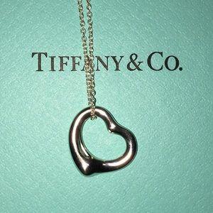 Tiffany & co peretti 16mm open heart necklace 16in